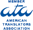 We are a member of the American Translators Association.